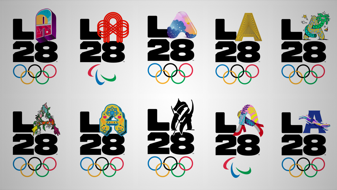 L.A. (or should we say L🅰️) introduces its Olympics logo — and it has tons of variations