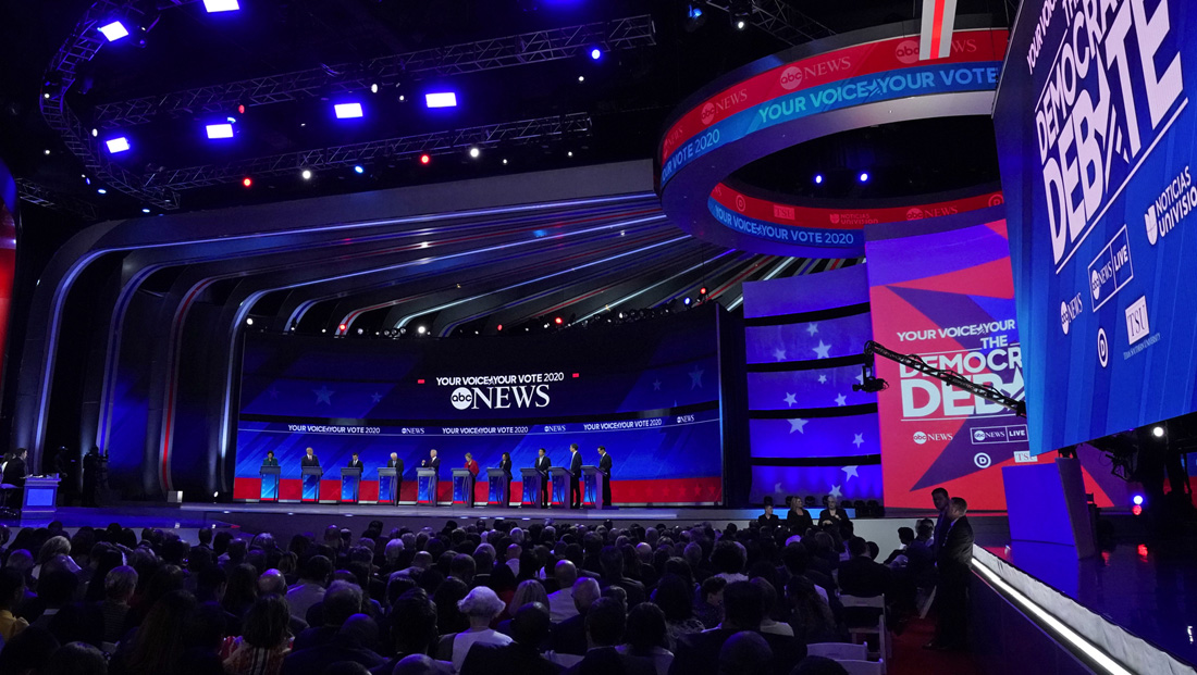 ABC goes structural for its Democratic debate stage design