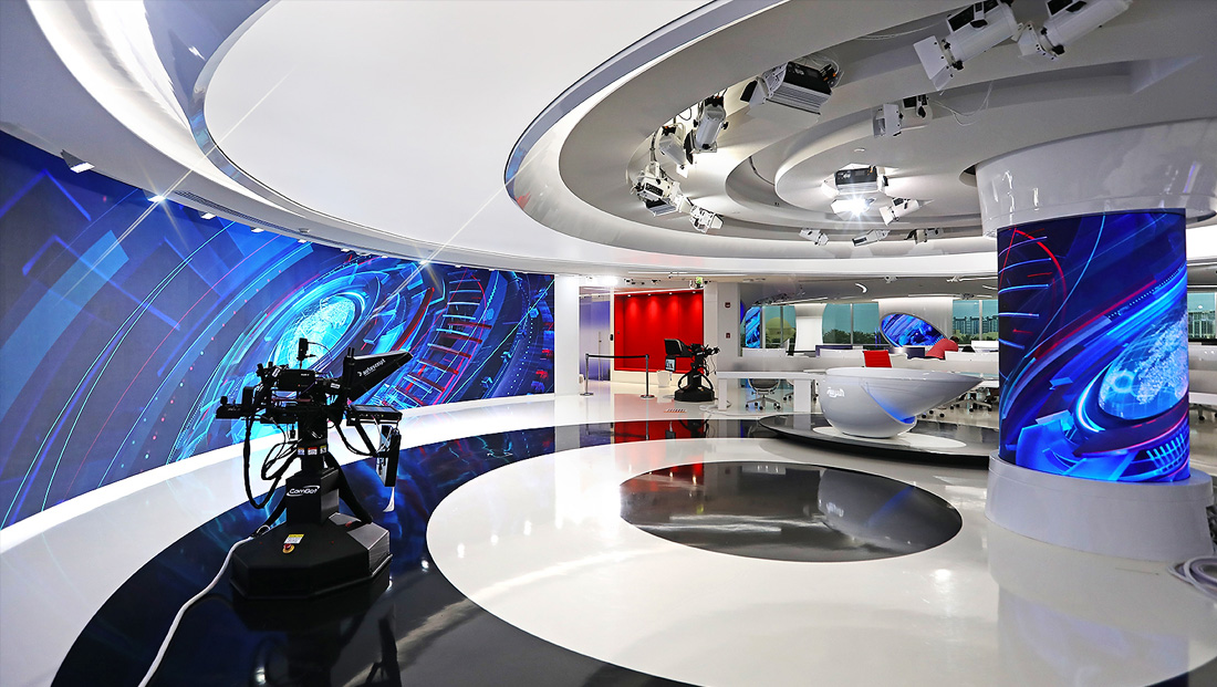Al Arabiya unveils sleek broadcast facility with dramatic lines and tech