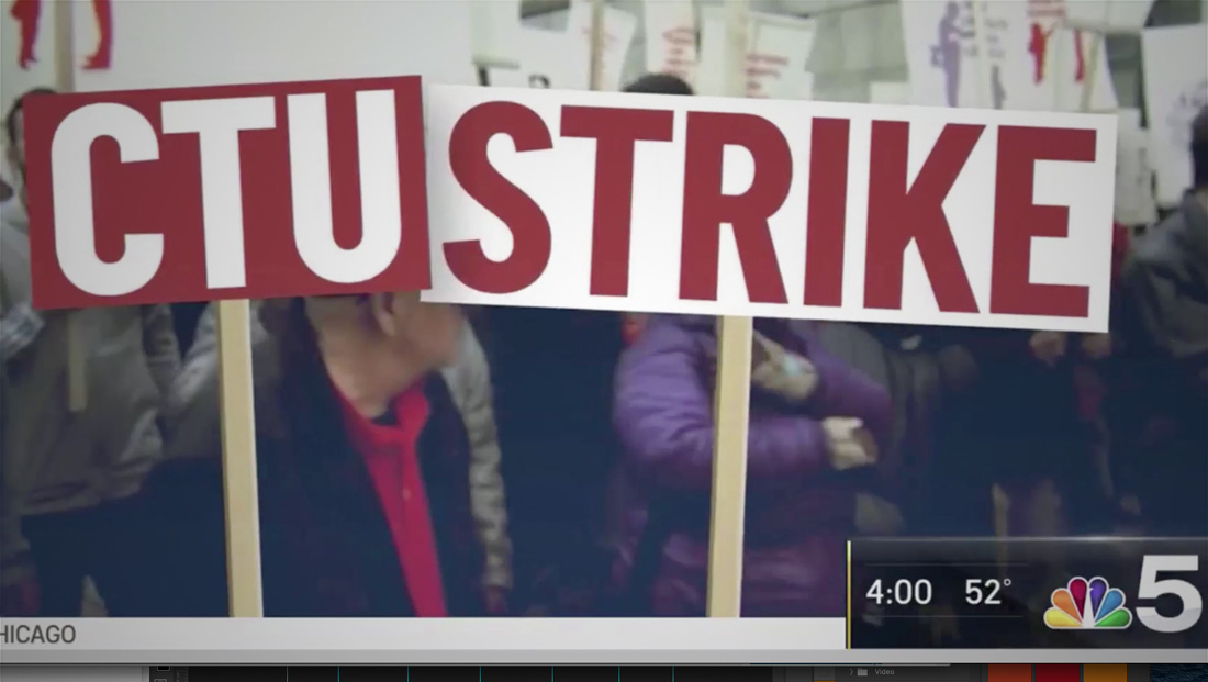 How Chicago TV covered strike, two breaking stories
