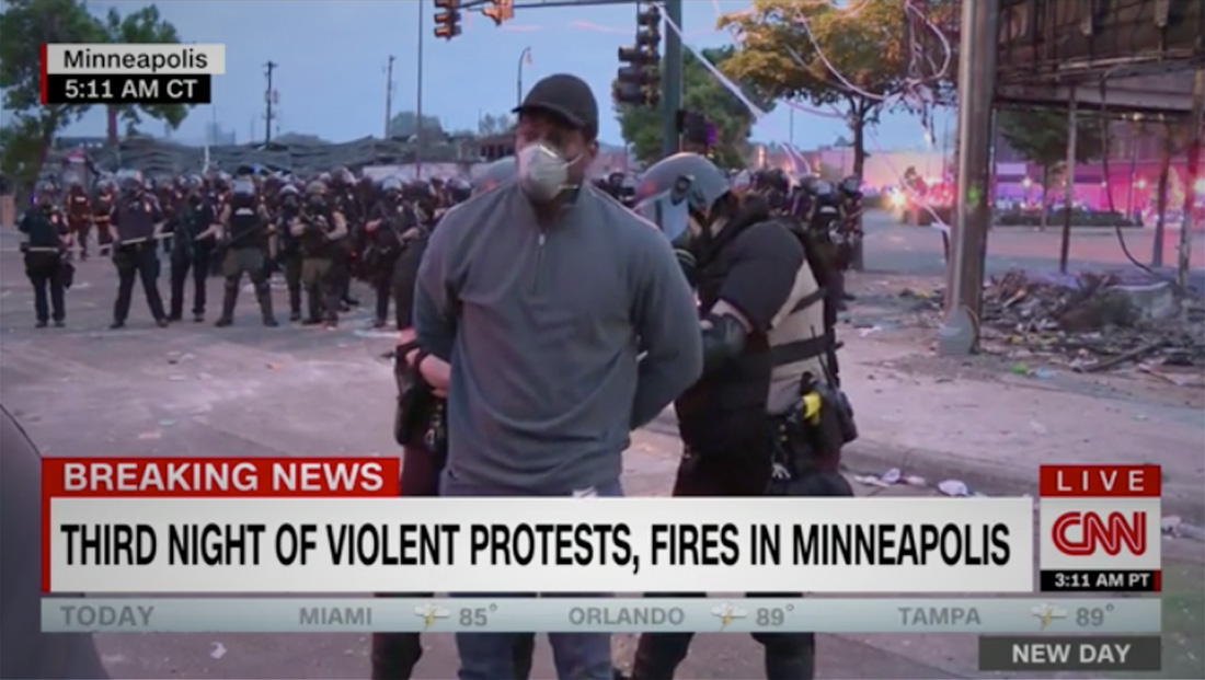 Minnesota police arrest CNN team on live television