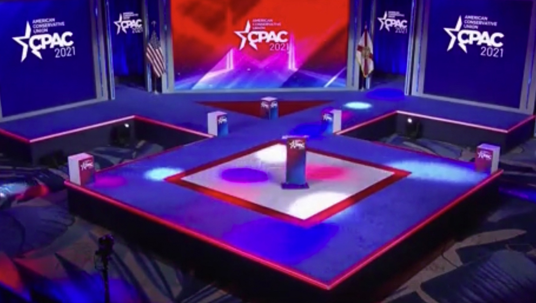 CPAC organizer vehemently denies stage was designed to look like Nazi symbol