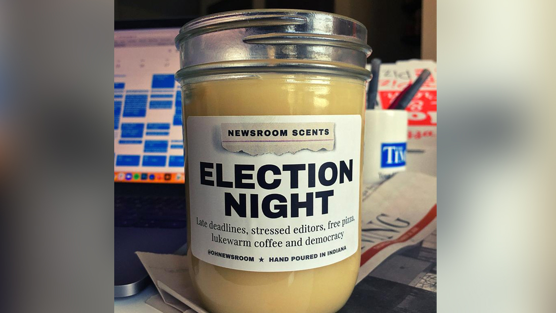 There's an 'election night' scented candle