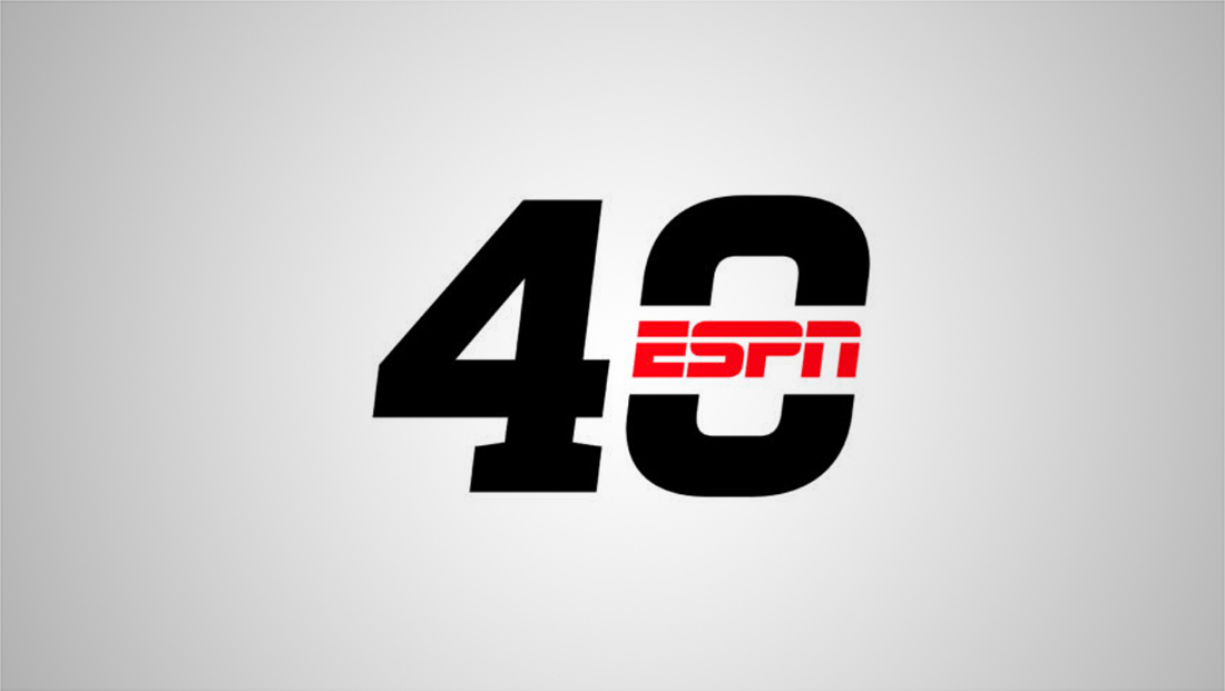 ESPN marking the big 4-0 with special logo in bottom line
