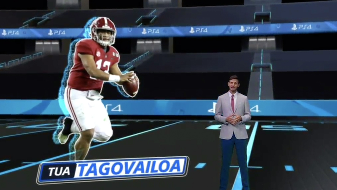 ESPN introduces player impact rating with virtual augmented reality segment