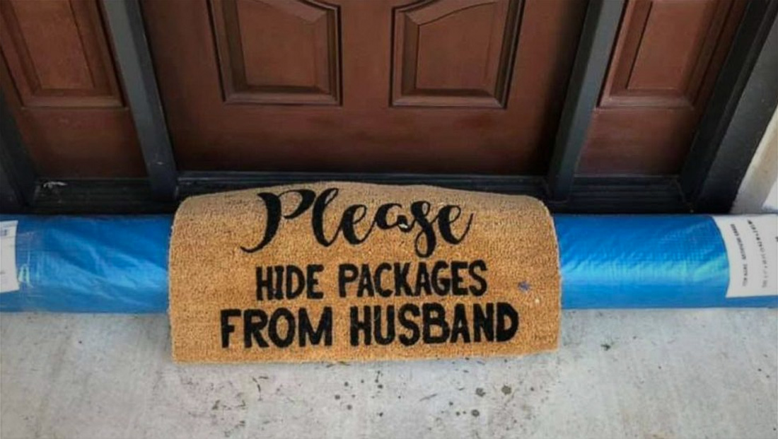 UPS driver makes hilarious attempt to 'hide' package from husband