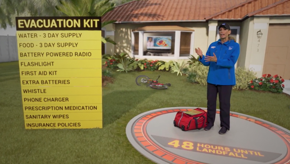 Weather Channel creates sponsored AR segment with hurricane tips ahead of Dorian