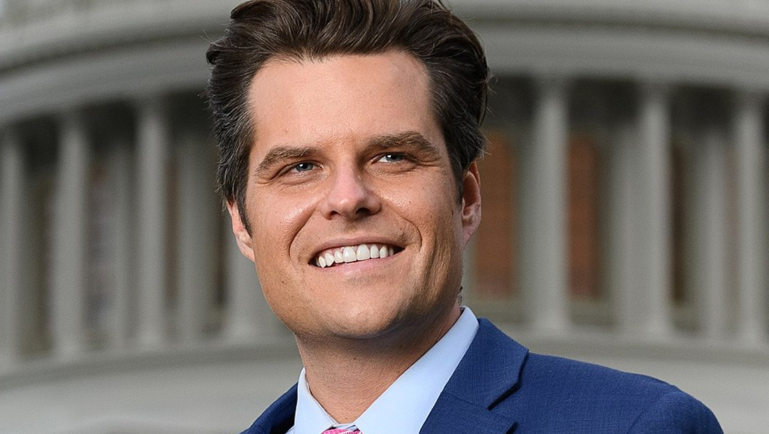Matt Gaetz compares Marjorie Taylor Greene presser to having sex