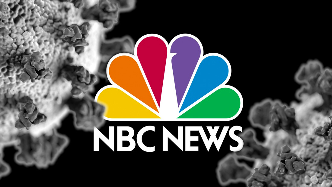 NBC News primetime special showcases U.S. coronavirus cases on background