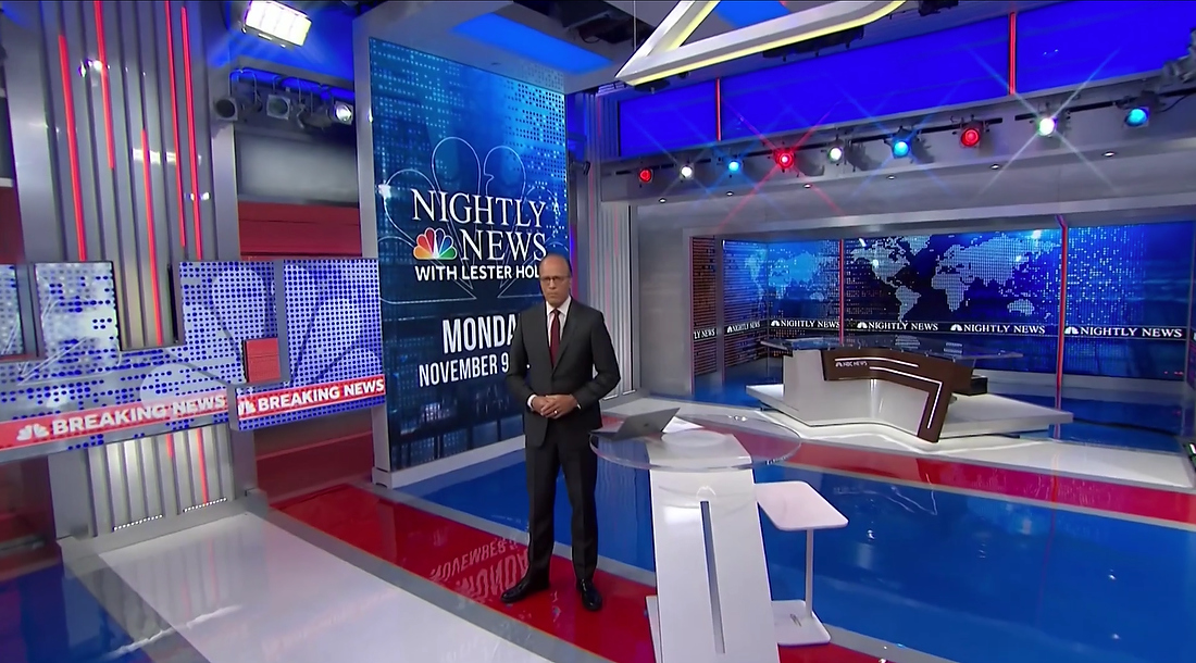 'NBC Nightly News' returns home with some new on set graphics, shooting techniques