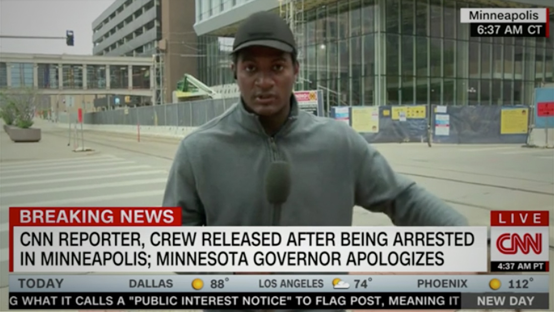 CNN reporter arrested live on air released