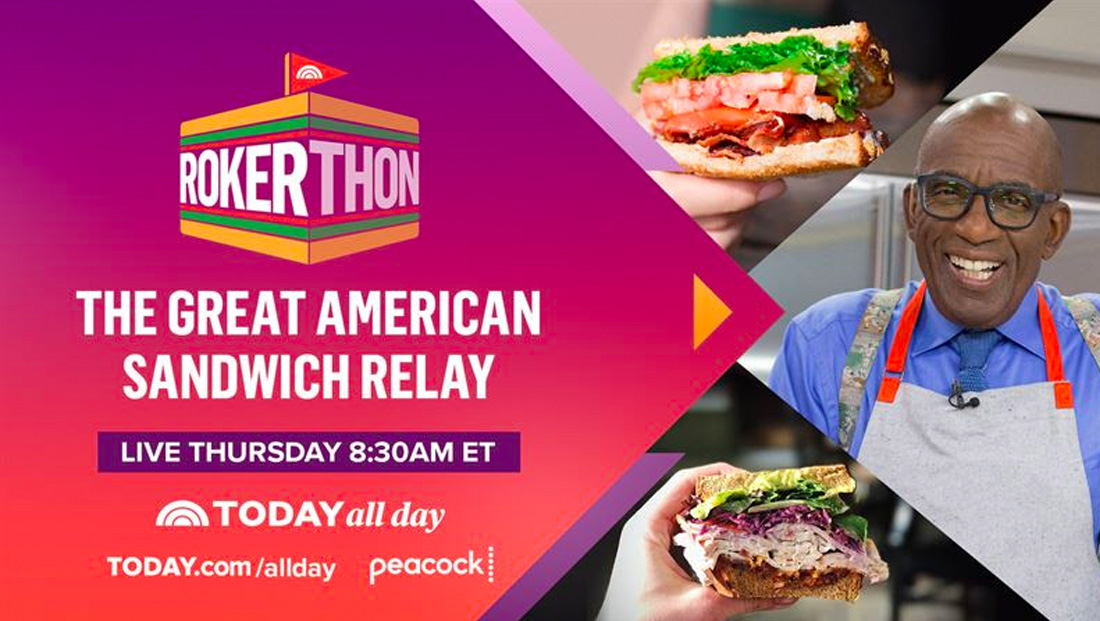 Al Roker will attempt to set a record for online sandwich making relay