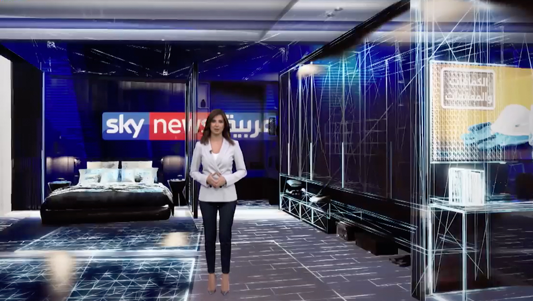 Sky News uses AR to walk through some possibilities for the future of travel