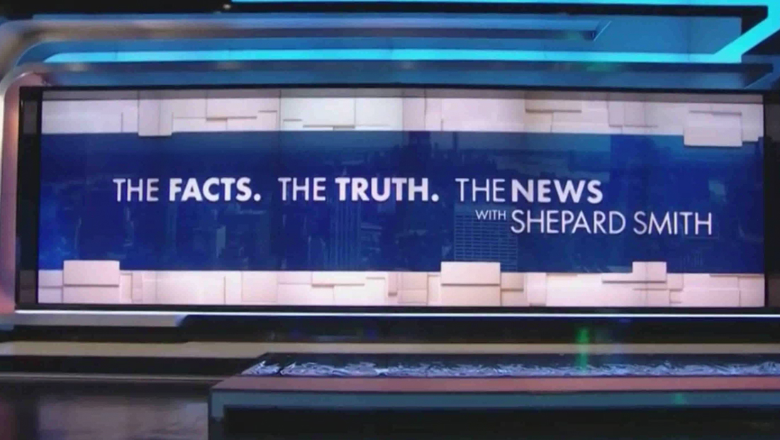 CNBC debuts 'The News with Shepard Smith' with clean, refined graphics — but a temp set