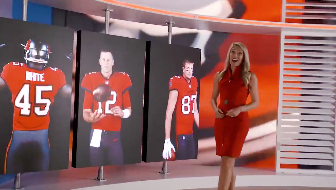 Tampa station's set takes center stage in Buccaneers promo